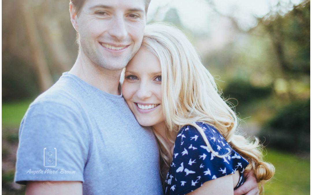 Charlotte & Dirk's Springtime engagement shoot at Hillier Gardens, Romsey.