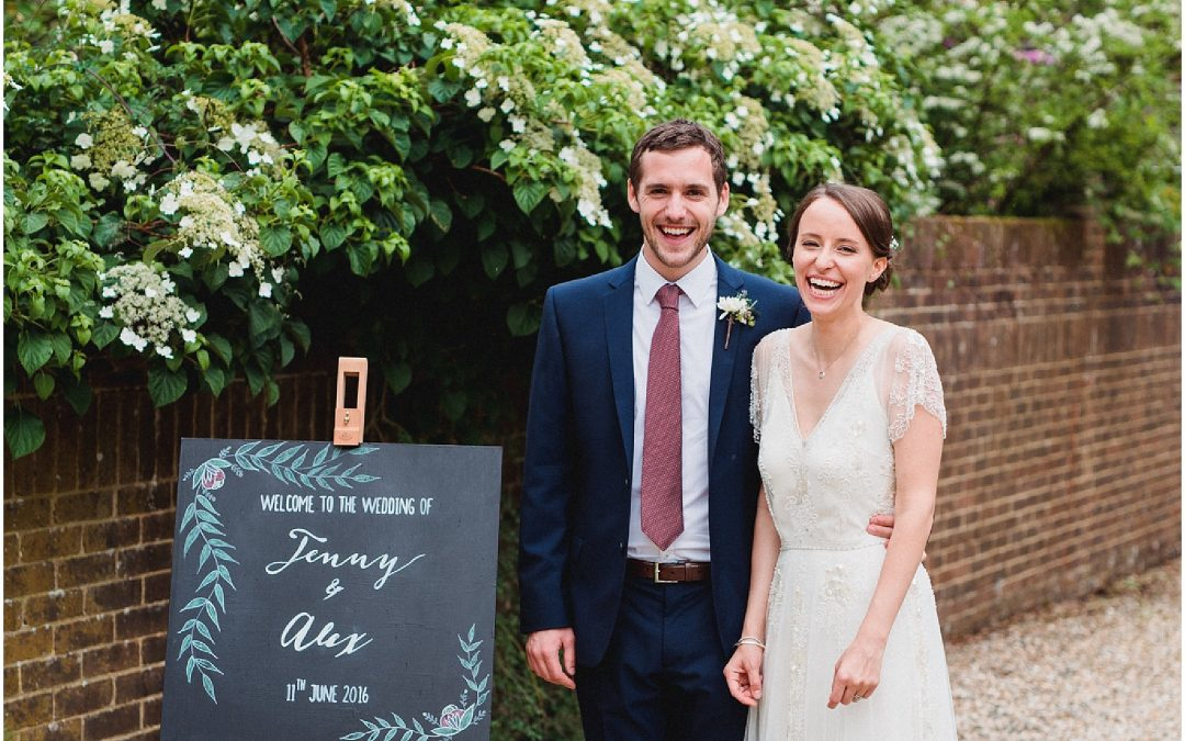 Jenny & Alex's Winchester garden wedding
