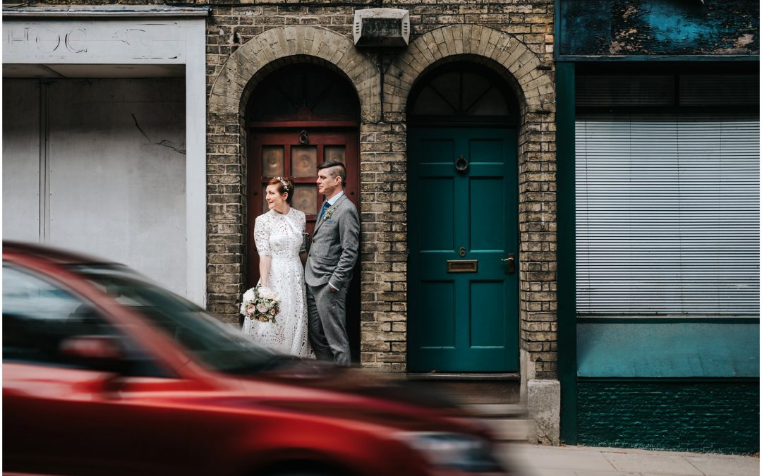 Kat & Marc's Winchester Basing room & Green Man pub wedding