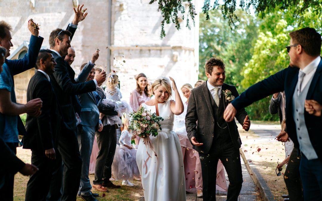 Tic & Nick's wild & windy Romsey Abbey wedding