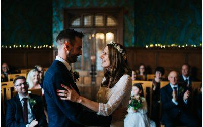 Anna & Tom's intimate Basing Room & Green Man Pub Winchester city wedding