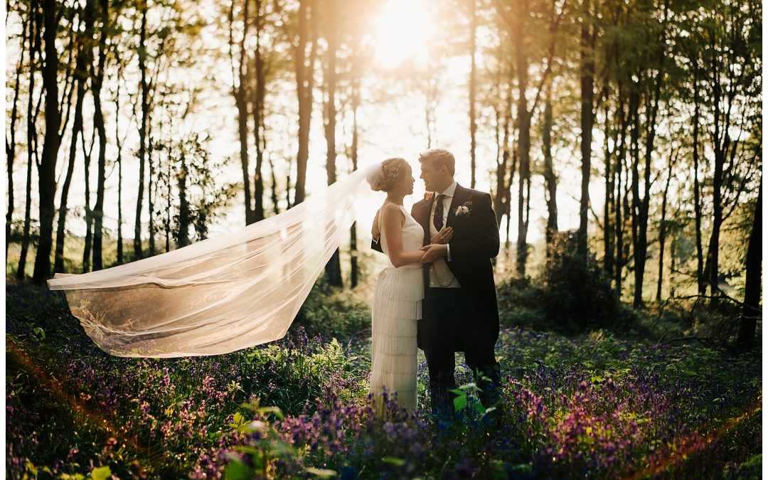 Hampshire wedding photographer – bluebells & dancing & swishyness with Amy & Bob