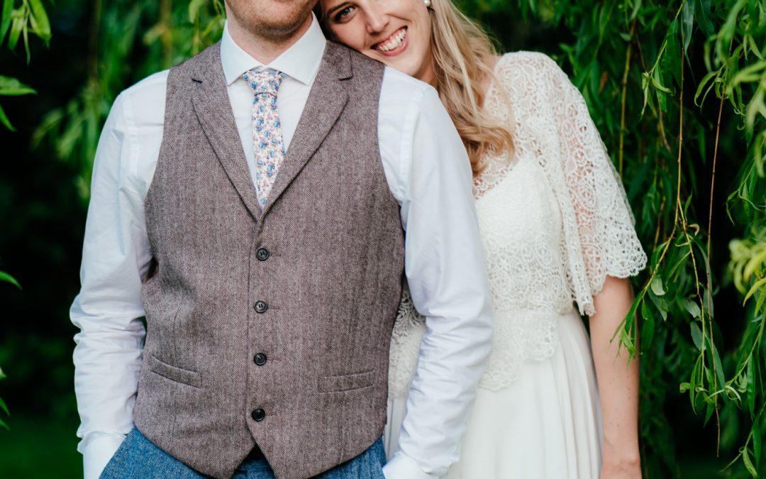 David & Laura's LLAMA themed wedding at Clock Barn.