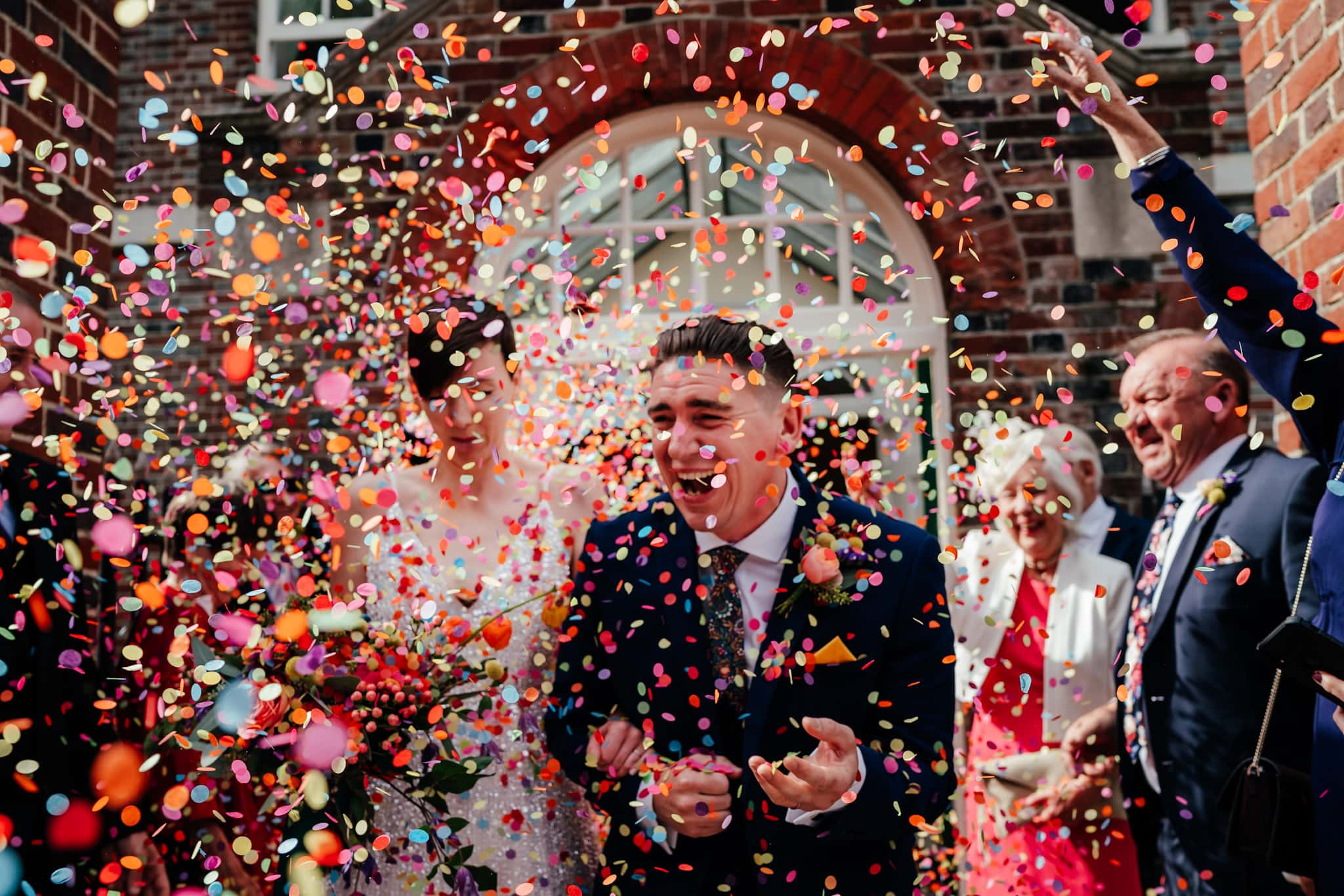 wedding confetti storm