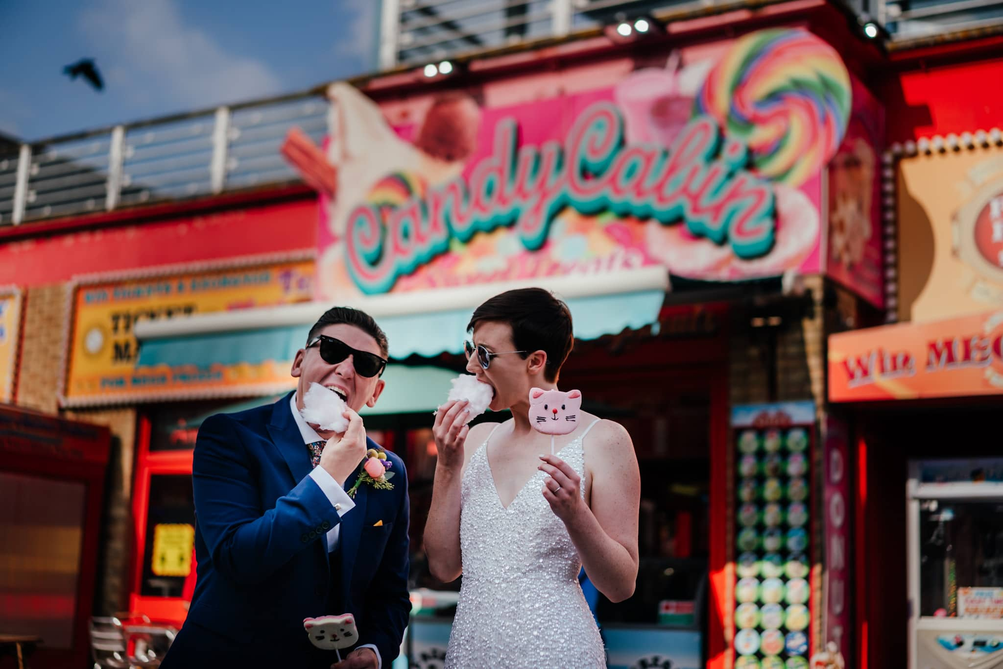 Portsmouth fairground wedding